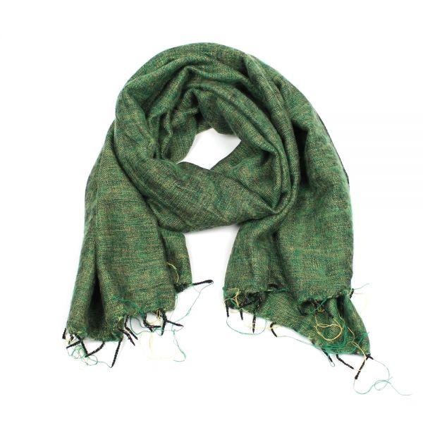 Großhandel Schnäppchen 2017 jetzt kaufen Melange-Schal apfel grün - Fair Trade