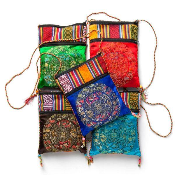 50 Beutel Schwarztee in einer grünen Tibetischen Tasche - Fairtrade
