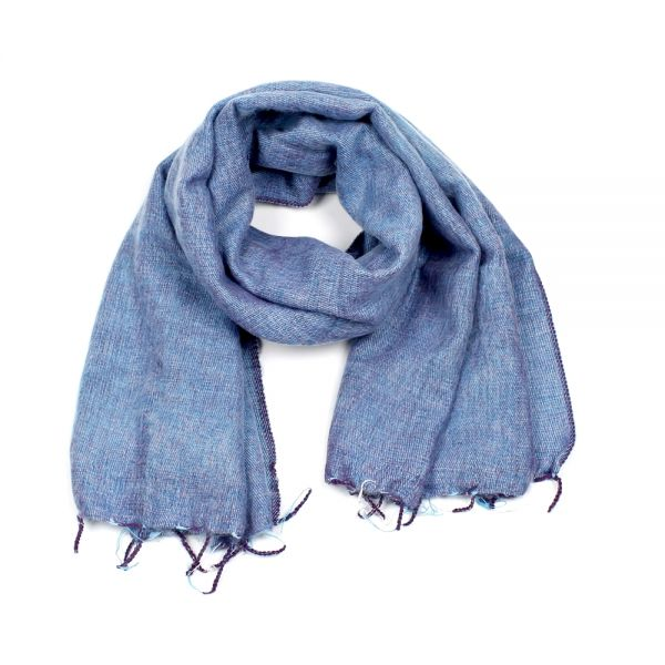 Melange-Schal Lavendel blau - Fair Trade