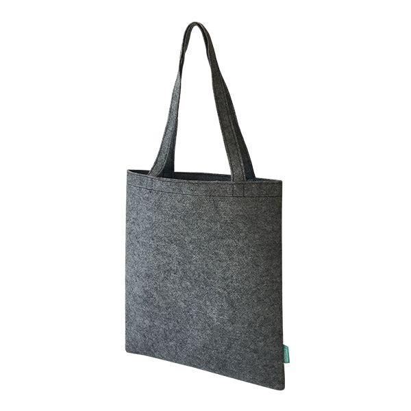 Recycelte PET Shopper / Einkaufstasche grau - upcycling - Fairtrade