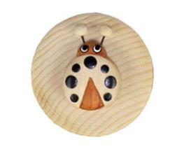 Milchzahn-Dose (Zahnbox) Marienkäfer schwarz aus Holz - Fairtrade