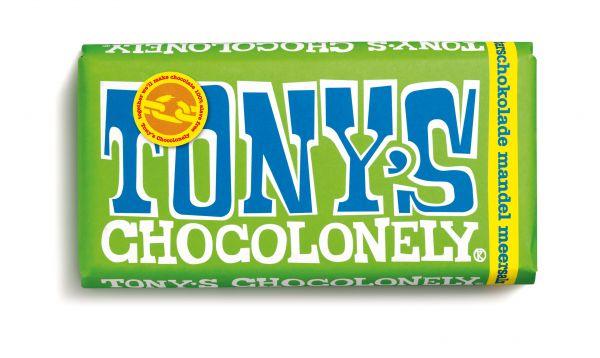 Tony´s Chocolonely - Zartbitterschokolade mit Mandel und Meersalz - 180 Gramm - fairtrade