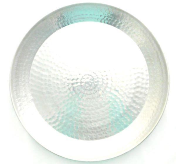 Schale (Ø 48 cm) aus Aluminium gehämmert (L) - Fair Trade