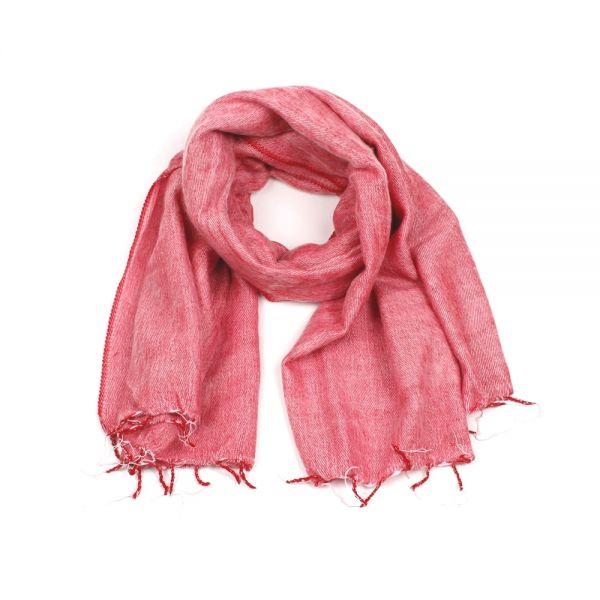 Melange-Schal rosa rot - Fair Trade