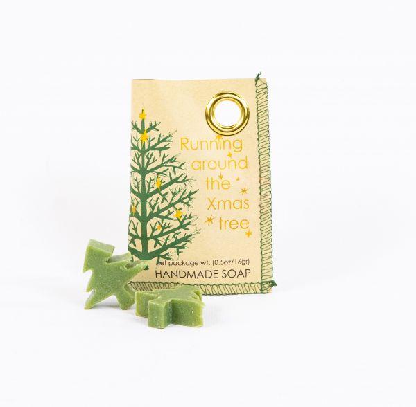 Weihnachtsbaum-Seife in Papiertütchen - Fairtrade