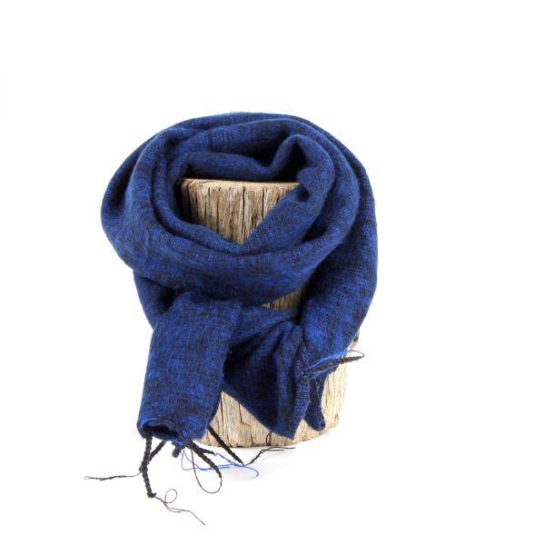 kleiner Melange-Schal dunkel blau - Fair Trade