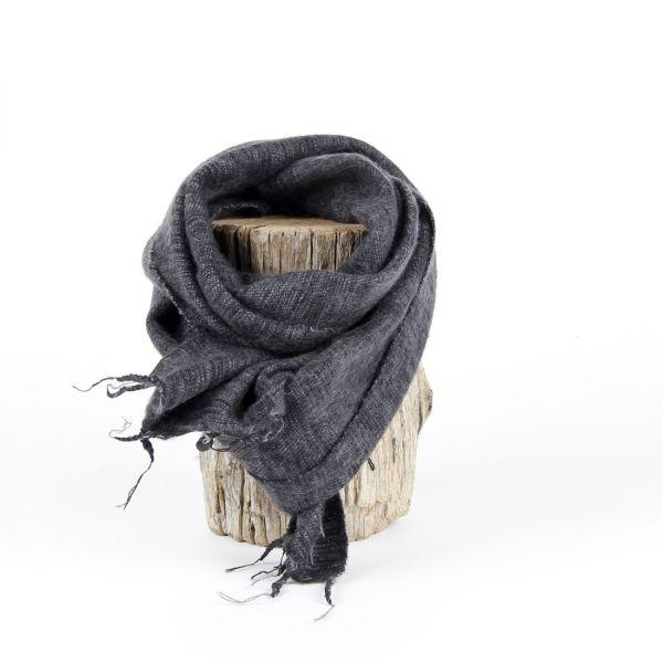 kleiner Melange-Schal anthrazit grau - Fair Trade