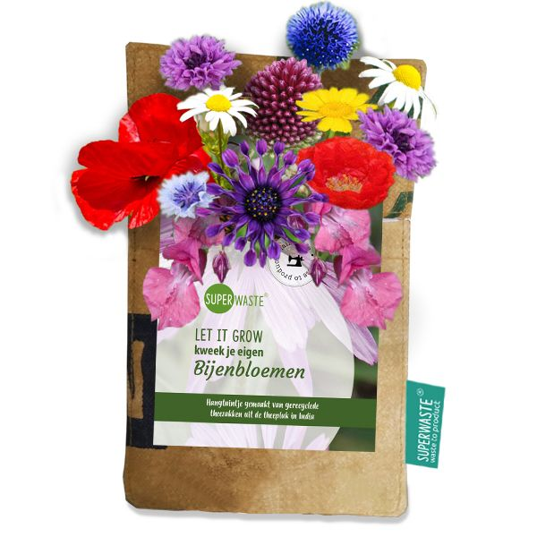 Let it grow - Hängegarten Bienen-Blumenmix - Fairtrade Upcycling