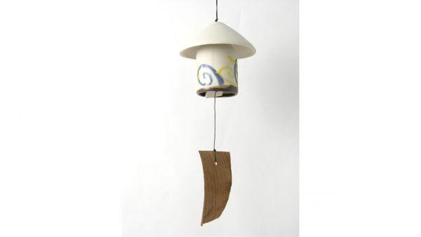 Pilz Wind-Gong / Wind-Spiel / Wind-Glocke aus Keramik - Fairtrade