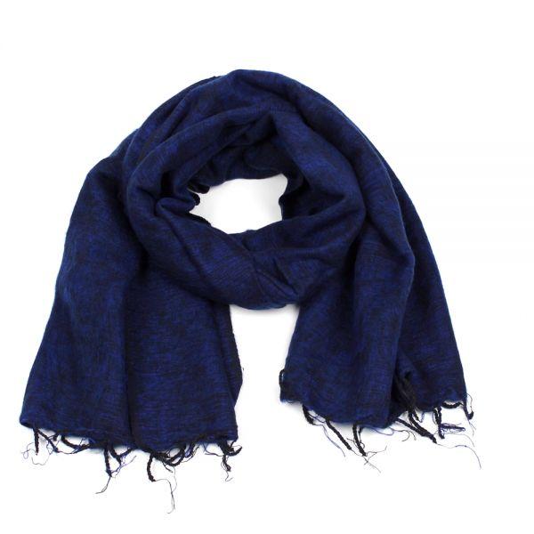 Melange-Schal dunkel blau - Fair Trade
