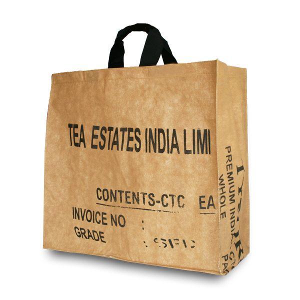 Tea-bag Einkaufstasche Shopper L - upcycling - Fairtrade