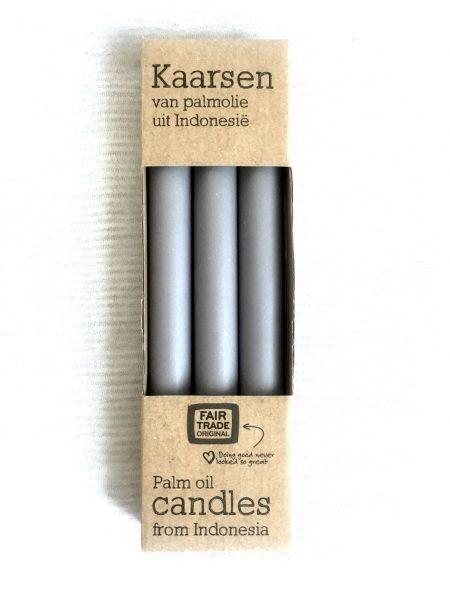 3 Kerzen - grau - Fairtrade