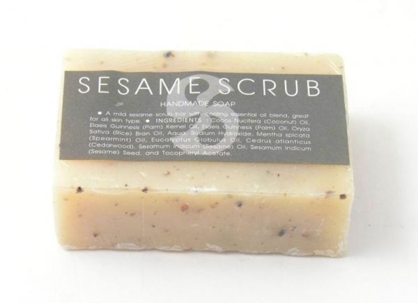 Seife Sesam Scrub handgemacht - Fairtrade
