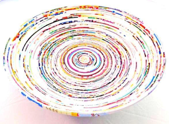 Schale aus recyceltem Papier Ø 32 cm - Fair Trade