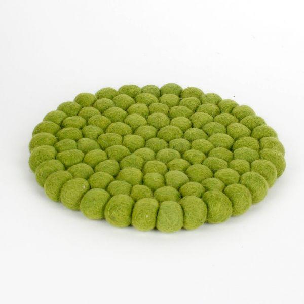 Topf-Untersetzer aus Filzkugeln- grün Ø 20 cm - Fairtrade