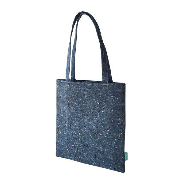 Recycelter Filz Shopper / Einkaufstasche blau - upcycling - Fairtrade