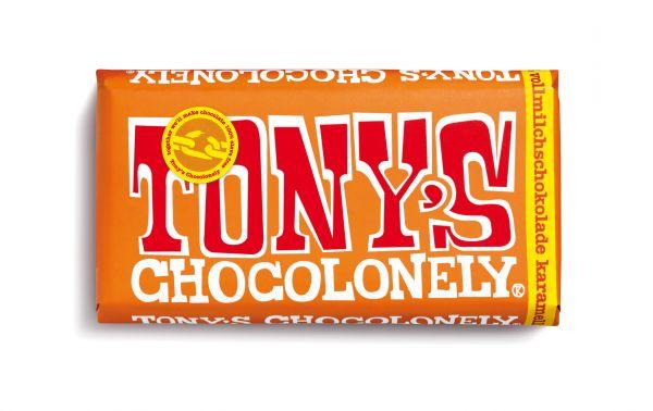 Tony´s Chocolonely - Vollmilchschokolade mit Karamell und Meersalz - 180 Gramm - fairtrade