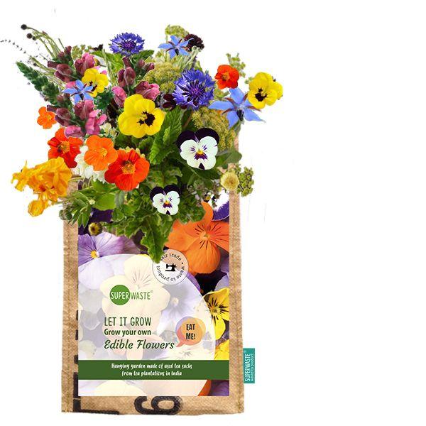 Let it grow - Hängegarten essbare Blumen - Fairtrade Upcycling