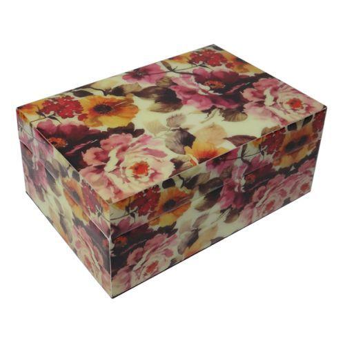 Schmuckkästchen Box Dahlie pink aus Holz lackiert - Fairtrade