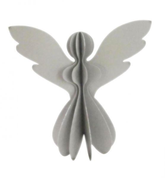Papier-Engel silber mit Glitzer (30 cm) - Fairtrade
