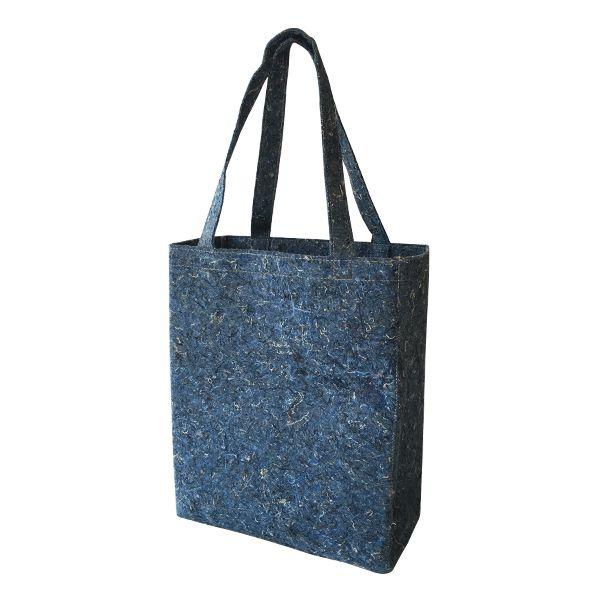 Recycelter Filz Shoulder bag / Schulter-Tasche blau - upcycling - Fairtrade