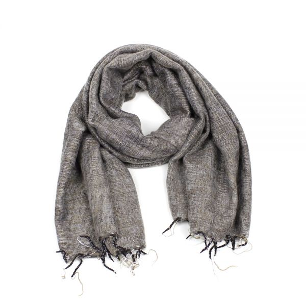 Melange-Schal braun taupe - Fair Trade