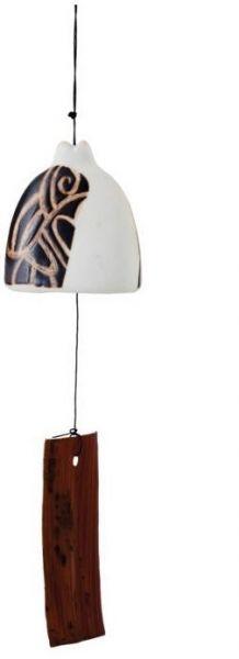Wind-Gong / Wind-Spiel / Wind-Glocke / Klingel aus Keramik - Fairtrade