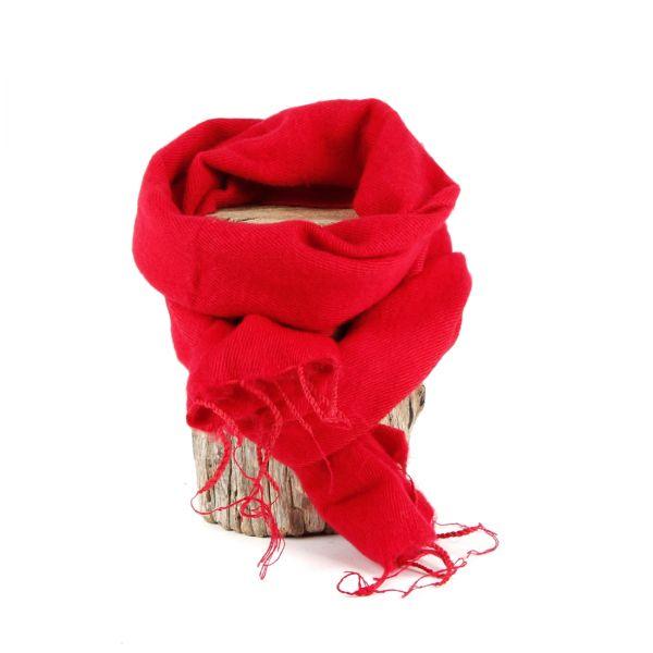 kleiner Melange-Schal rot - Fair Trade