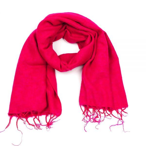 Melange-Schal fuchsia pink - Fair Trade
