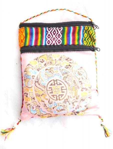 50 Beutel Ingwertee in einer pinken Tibetischen Tasche - Fairtrade