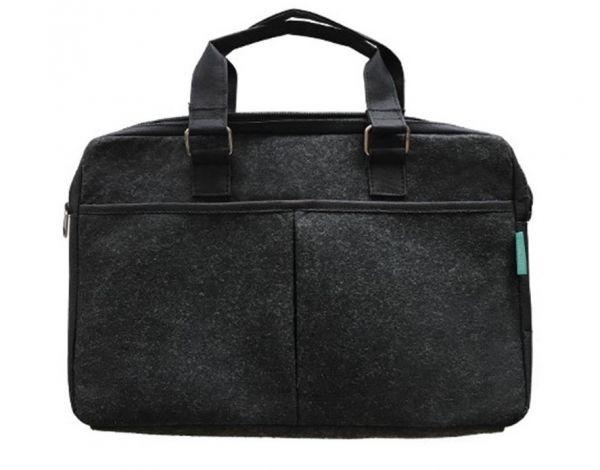 Recycelte PET Document-bag / Aktentasche / Arbeitstasche schwarz- upcycling - Fairtrade