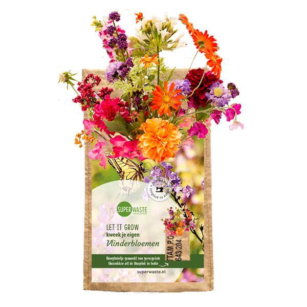 Let it grow - Hängegarten Schmetterling-Blumenmix - Fairtrade Upcycling