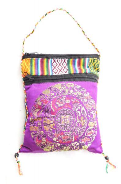 50 Beutel Jasmintee in einer lila Tibetischen Tasche - Fairtrade