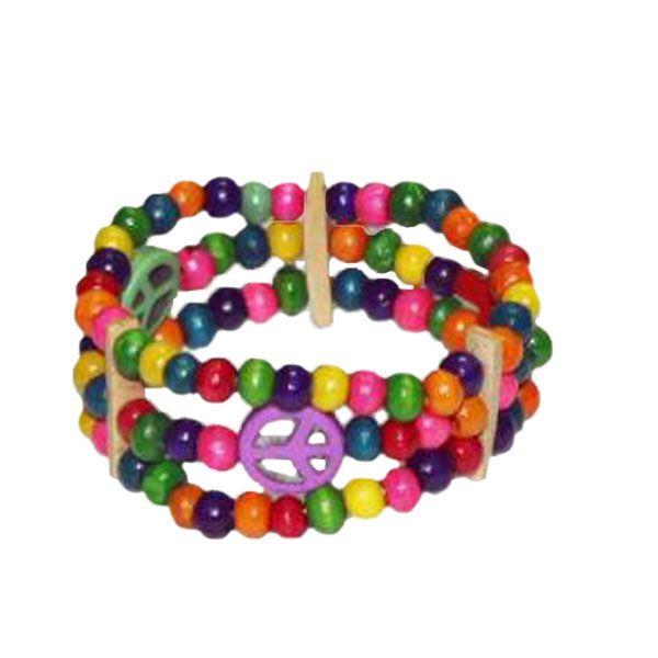 Armband Regenbogen aus Holzperlen -Fair Trade