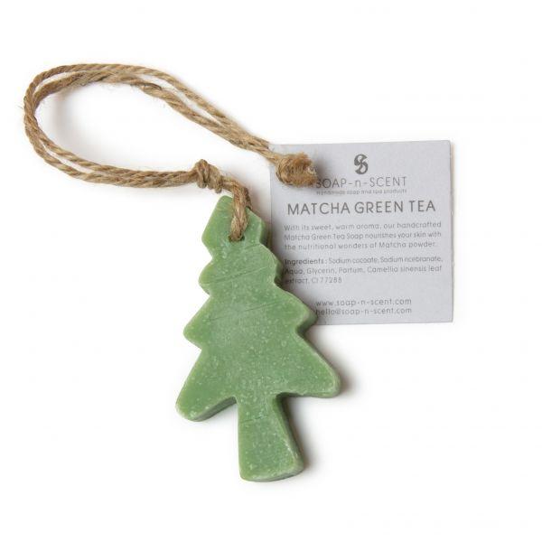 Hänger mit Weihnachtsbaum-Seife (Matcha grüner Tee)- Fairtrade
