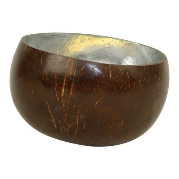 Kokosschüssel silber (M) - Fair Trade