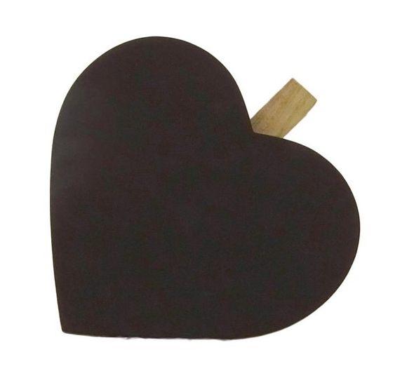 Herz-Kreidetafel mit Klammer und Magnet - Fairtrade