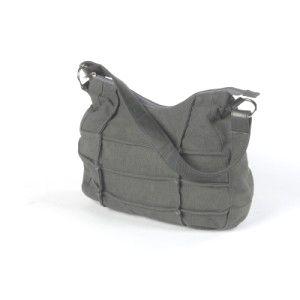Schultertasche / Hobobag grau aus Canvas - Fair Trade