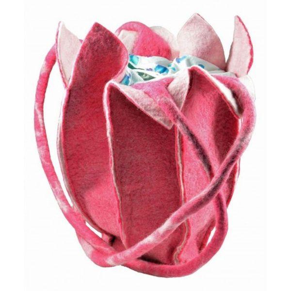 Filz-Tasche Tulpe pink - Fairtrade
