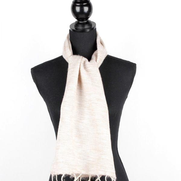 kleiner Melange-Schal beige - Fair Trade