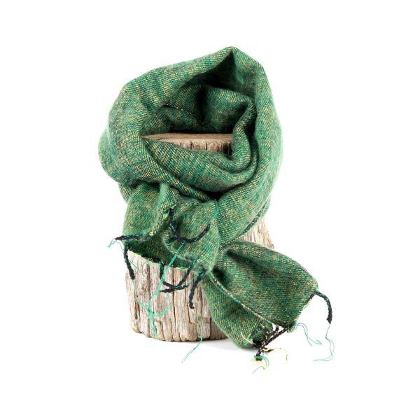 kleiner Melange-Schal Apfel-grün - Fair Trade