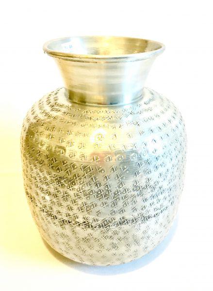 Blumen-Vase (L) aus Aluminium - Fair Trade