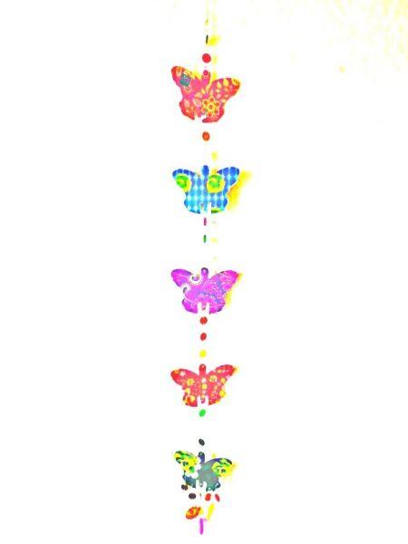 Hängegirlande aus buntem Papier-Schmetterlingen - Fair Trade