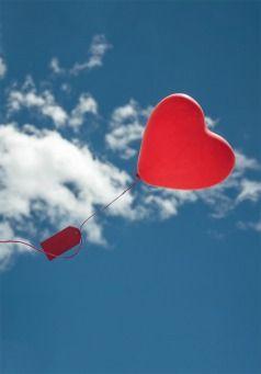 Grußkarte - Herzballon