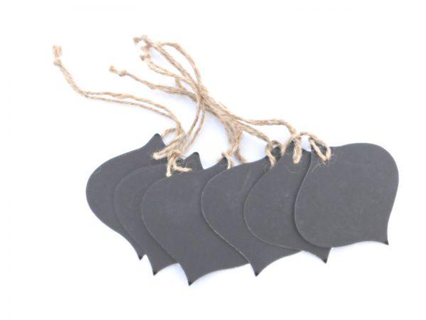 Mini Tafel Zwiebel- Kreidetafel Schilder - Schiefertafel - Anhänger-Set 6 Stück - Fair Trade