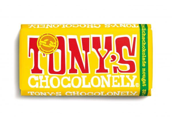 Tony´s Chocolonely - Vollmilchschokolade mit Nougat - 180 Gramm - fairtrade