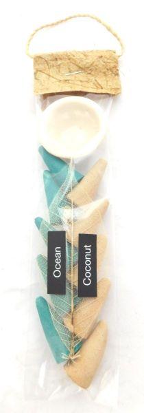 Weihrauch Ozean und Kokos, 10 Kegel mit Halter aus Keramik - Fair Trade