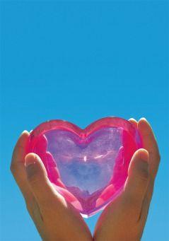 Grußkarte - rosa Herz