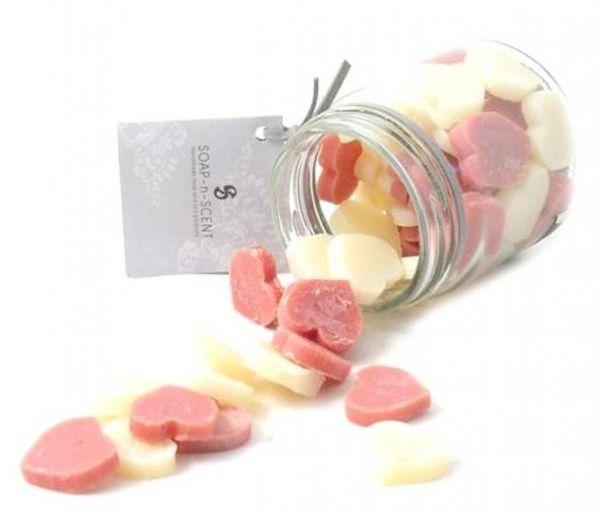 Seife Liebe im Glas - Gäste-Seife mit rotem Jasmin-Reis und Ziegenmilch - Fairtrade