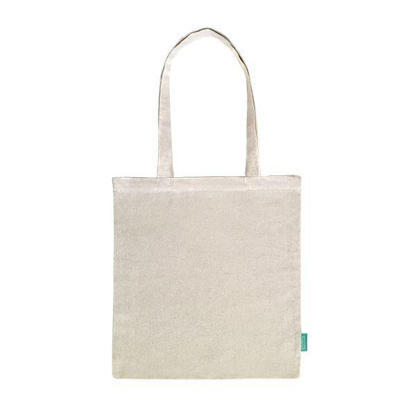 Recycelter Baumwoll-Shopper / Einkaufstasche natur- upcycling - Fairtrade